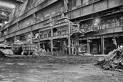 Foto verlaten staalfabriek