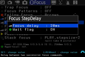 Focus StepDelay