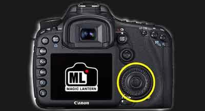 Canon EOS 7D, selectiewiel